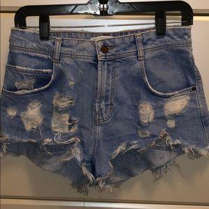 Zara high waisted shorts